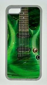 iPhone 5C Case, Green Guitar Case for iPhone 5C Soft TPU Material Transparent