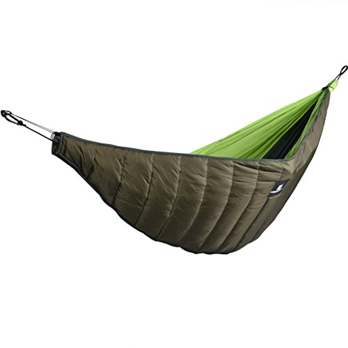 MagiDeal Outdoor Full Length Hammock Underquilt Ultralight Winter Under Quilt Blanket - Army Green by MagiDeal