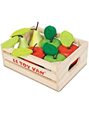 Le Toy Van Honeybake Collection Vegetables '5 A Day' Crate Set Premium Wooden Toys for Kids