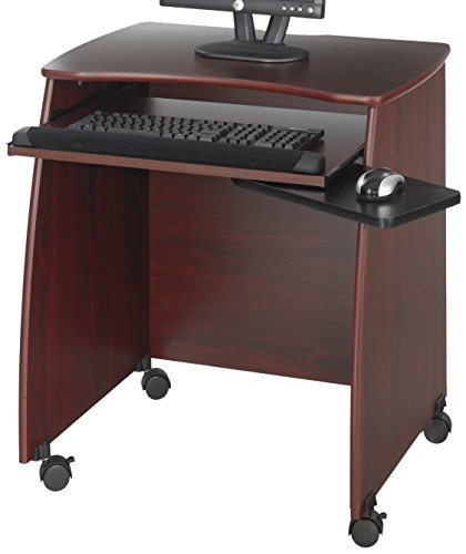 Safco Products 1953MH Picco Duo Computer Workstation with Pullout Keyboard Tray, Mahogany