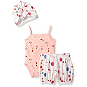 Rosie Pope Baby Girls' 2 Piece Set With Headband and Matching Diaper Cover, Coral/Swimmers, 3-6 Months