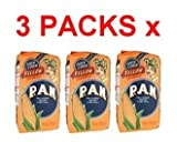 Harina PAN 3 PACK Yellow Corn Meal Flour 3 x 1 Kg Venezuela