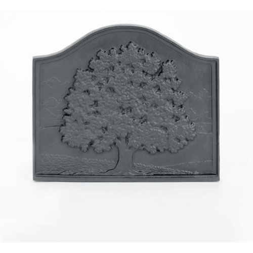 WOODFIELD Woodfield Small Oak Cast Iron Fireback, Current Year Date 61094 by Woodfield