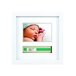 Pearhead Baby Hosipital ID Bracelet and Photo Keepsake Frame, White