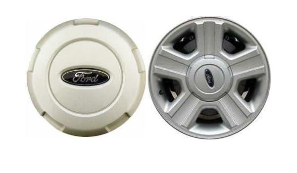 17 pulgadas 2004 2005 2006 2007 2008 Ford F150 F-150 Camión Llanta de Aleación de OEM Centro Tapa Cubierta de la rueda tapacubos Plata 3554 4l34 - 1 a096-ac ...