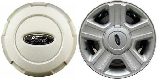 Ford F150 Alloy Wheel - 17 inch 2004 2005 2006 2007 2008 Ford F150 F-150 truck OEM alloy rim Center Cap hubcap wheel cover SILVER 3554 4L34-1A096-AC 4L3J-1A096-AA