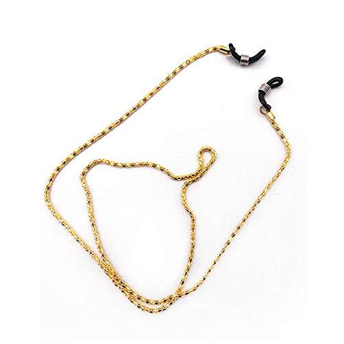 Gold Metal Glasses Rope Reading Glasses Neck Strap Retainer Strap Anti Slip Eyeglass Holder Cord Chains Eyeglass Accessoires