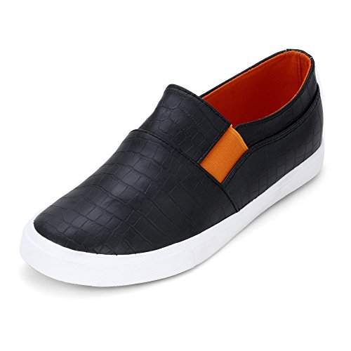 Men Casual Black Canvas Shoes for Daily Wear by Froskie