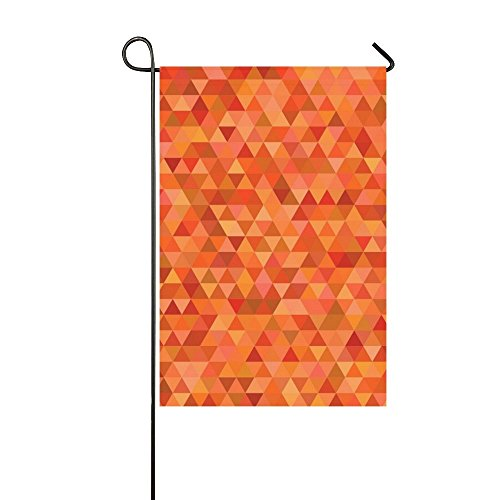 Quality Mosaic Show Silver (RYUIFI Home Decorative Outdoor Double Sided Orange Triangle Tile Mosaic Abstract Garden Flag,house Yard Flag,garden Yard Decorations,seasonal Welcome Outdoor Flag 12 X 18 Inch Spring Summer Gift)