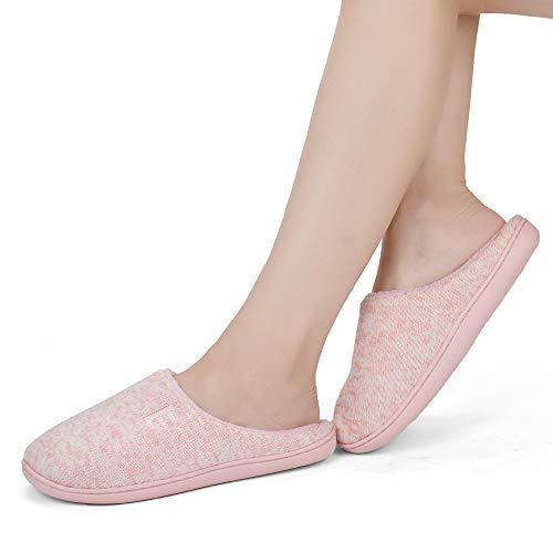 Women's Light Shoes Slippers Soft House Anti Pink LANDER Slip Indoor Slippers Foam Memory Sole EAST B5x1qfS5