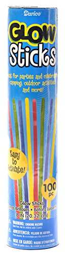 Darice Glow Sticks, 8-Inch, Assorted Neon Colors, 100-Pack