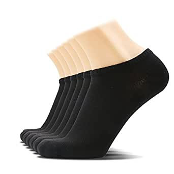 SOXTOWN Men's Comfy Low Cut Athletic Socks,6 Pairs Pure Color Durable No Show Casual Socks (black)