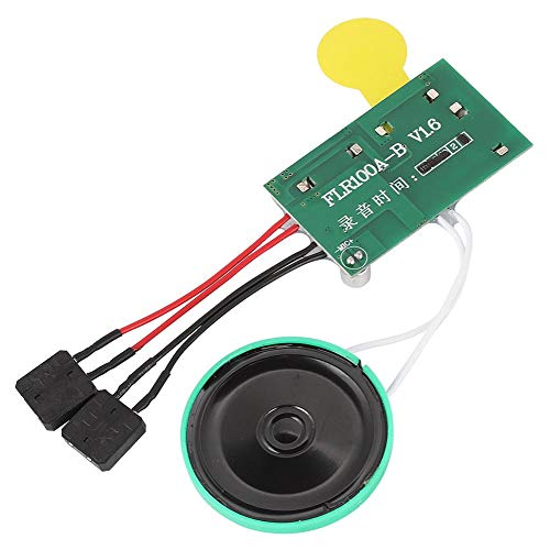 ASHATA Recordable Voice Module, 120 Seconds DIY Greeting Card Chip,Recordable Voice Sound Chip Module for DIY Homemade Greeting Cards/Gift Boxes/DIY Audio Cards Gifts