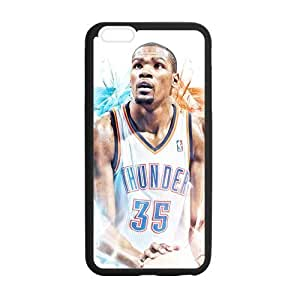 "FUNLKYCAT Oklahoma City Thunder Stylish Pattern Non Slip High Impact Back Fits Cover Custom Case for iPhone6 Plus 5.5"" (Laser Technology)"