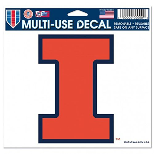 NCAA University of Illinois Multi-Use Colored Decal, 5