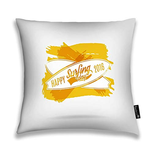 Randell Decorative Throw Pillow Case Little Step May Be The Beginning of Great Journey Cushion Cover Square 18 X 18 Inches ()