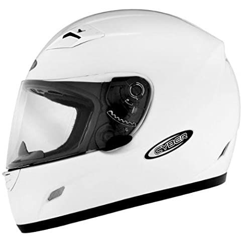 Cyber US-39 Full Face Helmet White L/Large - White Full Face Helmet