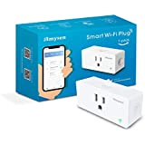 Amysen plugwif WiFi Plug, Smart Outlet Mini Socket No Hub Required, Control Your Devices from Anywhere Compatible with Alexa and Google Assistant, White