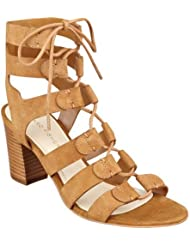 Marc Fisher Womens Patsey Lace Up Sandal,Medium Brown Suede,US 5.5 M