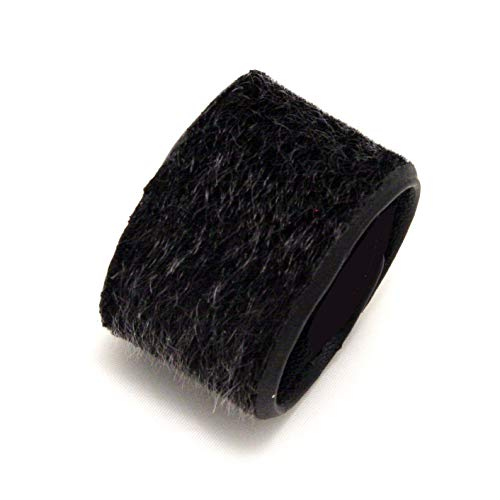 Mia Tony Pony, Ponytail Cuff, Hair Accessory on Elastic Rubber Band, Black Furry Leather Material, for Women and Girls 1pc