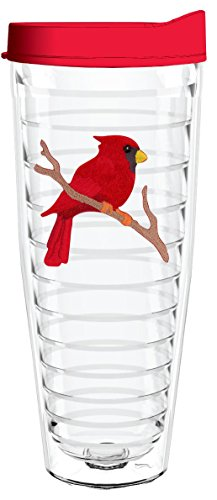(RED CARDINAL 26oz Tritan Insulated Tumbler with Lid and Straw)