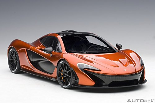 McLaren P1 Volcano Orange with Orange Calipers 1/18 Model Car by Autoart 76025