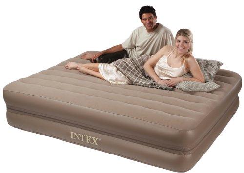 Intex 2-in-1 Airbed with Zipper Queen, Outdoor Stuffs