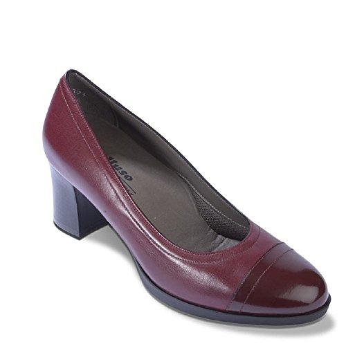 MELLUSO - Zapatos de vestir de Piel para mujer burdeos