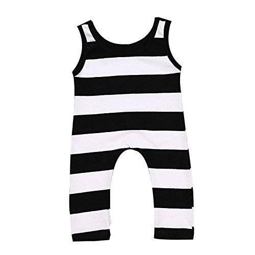 LUNIWEI Newborn Baby Boys Girls Sleeveless Striped Romper Jumpsuit Clothes