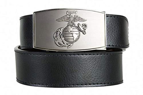 (Nexbelt Ratchet System Technology - USMC Series, The Belt with No Holes, Precise Fit, Men's Military Belts (Pewter)