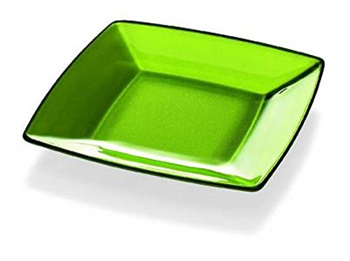 Square Charger Green Plates - Barski - European Quality - Glass - Green - Square - Plate - 5.9