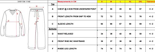 Pigiama Navy Insignia Top Uomo Lunga Check Manica Pantaloni E Set zqEqF