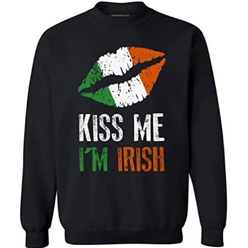 b17f4fa9a1e8f 50%OFF Awkward Styles Kiss Me I m Irish Sweatshirt Funny Irish Sweaters For