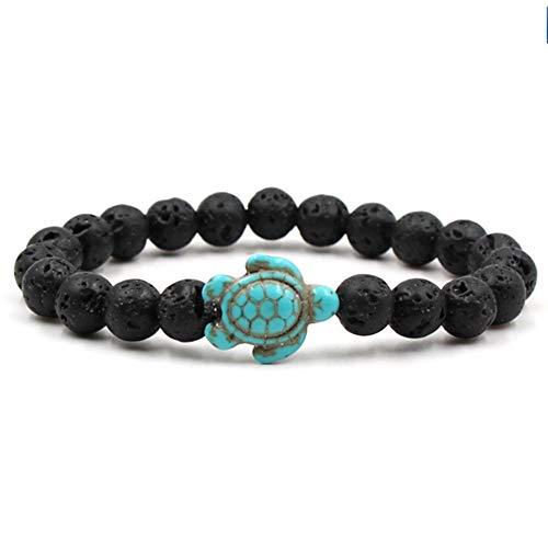 - JJDSL Bracelet Black Summer Style Sea Turtle Beads Bracelets for Women Men Classic Natural Stone Elastic Friendship Bracelet Beach Jewelry