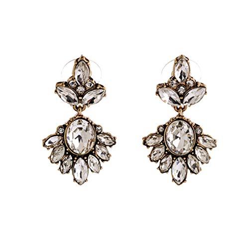Clockwork Baby Crystal Beaded Statement Drop Earrings Dangle Earrings Stud Earrings for Women