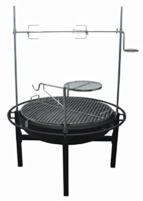 Rancher Fire Pit Charcoal Grill with Rotisserie, 31-Inch from Rankam Metal Products Manufactory Limited