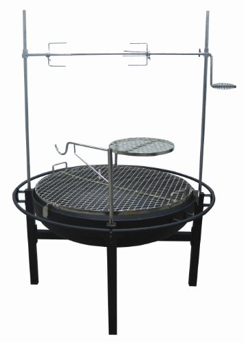 Smoke Canyon Rancher Fire Pit Charcoal Grill with Rotisserie, 31-Inch