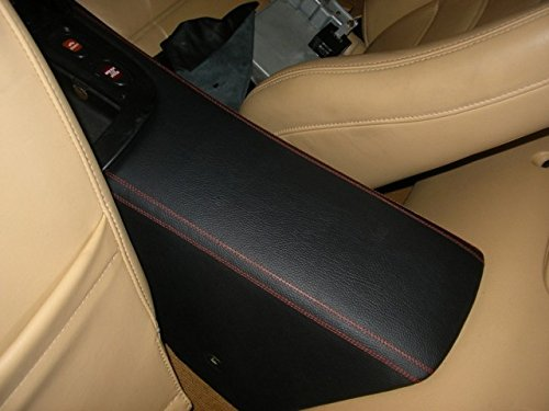 RedlineGoods Center Console Cover Compatible with Mazda RX7 1993-02. Black Alcantara-Blue Thread by RedlineGoods (Image #3)