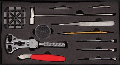 SE JT-WK1013 13 Piece Watch Repair Tool Kit