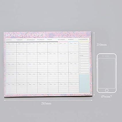 Amazon.com: Dart3089 Big Weekly Planner Notebook Kawaii ...