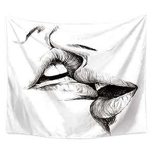 Amazon.com: QCWN – Tapiz para bizcocho de mujer, diseño ...