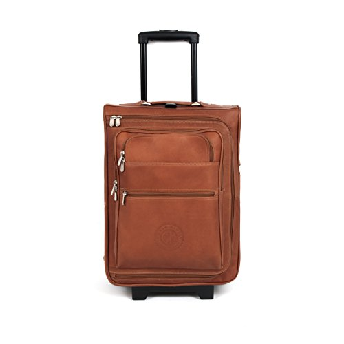 Brescia 19in Leather Wheeled Suitcase -
