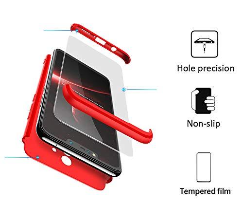 BESTCASESKIN Funda Samsung Galaxy S7 Edge, Carcasa Móvil de Protección de 360° 3 en 1 Desmontable con HD Protector de Pantalla Carcasa Caso Case Cover para Samsung Galaxy S7 Edge (Rojo): Amazon.es: Hogar