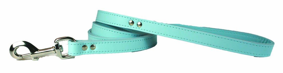 OmniPet 6075-BBL Signature Leather Dog Leash, Baby bluee, 3 4  x 4'