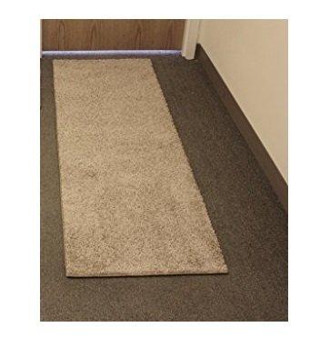2'x8' Economy Runner | Carpet 25 Oz. Taffy Apple Beige Frieze for Home & School Use (1)