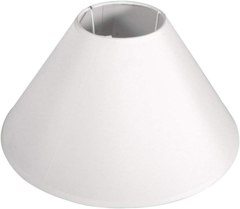 Rayher lámpara Pantalla, cónico, Redondo, Weiß, Höhe: 19 cm