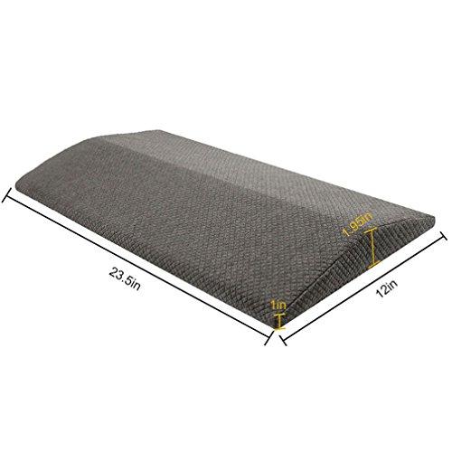 Sleeping Pillow - Memory Foam Lumbar Support Wedge Almohada Slow Rebound Memory Algodón Cojín Lumbar para Mujeres...