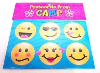 Bunk Junk Emoji Postcards Set for Camp and Vacation