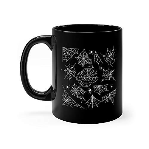Cobweb Set Spider Web Halloween Black Funny Mugs