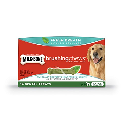 Milk-Bone Brushing Chews Fresh Breath Daily Dental Treats, Large, 18.86 Ounce, 14 Count